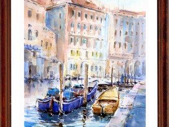 水彩画原画 ヴェネツィア運河 13 の画像