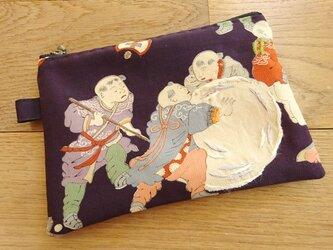 古布を楽しむポーチ(弐)の画像