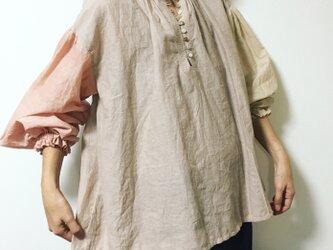 手織り 春色ブラウスの画像