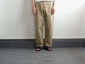 original cotton twill/baker pants:beigeの画像