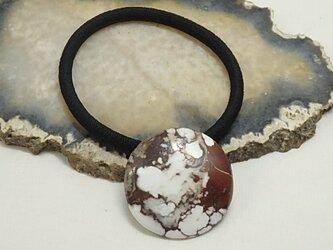 天然石のヘアゴム、ジプサムの画像
