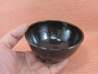 陶器ご飯茶碗(中)黒天目釉 【190423】の画像