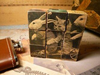 ウッド・キューブパズルの画像