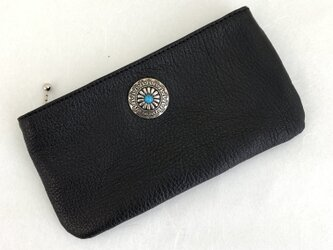コンチョ付ペタンコ財布の画像