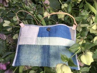 手織りヘンプショルダーバッグ(キルトH)の画像