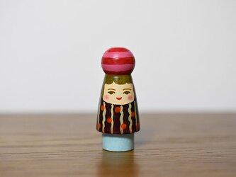 球体者(赤ピンクよこじま玉)の画像