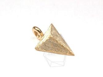 PDT-060-MG【4個入り】3D三角形ペンダント,3D triangle Pendantの画像