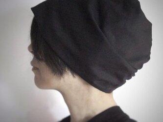 ターバンな帽子 モノトーン 送料無料の画像
