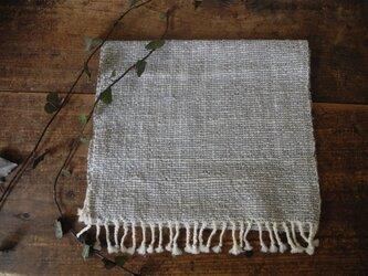 手織りフェイスタオル 『青』の画像