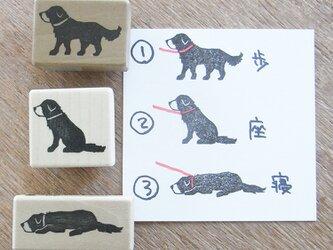 「犬と散歩はんこ」の犬の画像