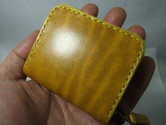 スクエアファスナーコインケース ルガトショルダー黄色の画像