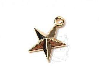 PDT-074-G【4個入り】ミニスターペンダント,Glossy Gold Plated Mini Starの画像