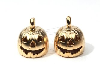 PDT-077-MG【4個入り】パンプキンペンダント,Pumpkin Brass Pendantの画像