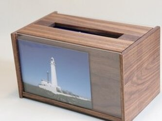 「ウォルナット」  ティッシュボックス2箱収納ケース /BC5[注文制作]の画像