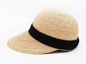 NEW! 大人用 個性的な麦わら帽子 黒/白2色のリボンのオプションの画像