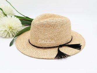 自然素材の麦わら帽子 大人用の画像