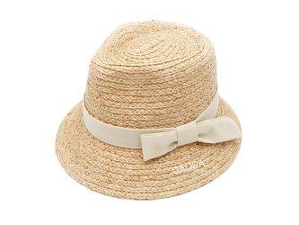 自然素材 手作りの麦わら帽子 大人用の画像