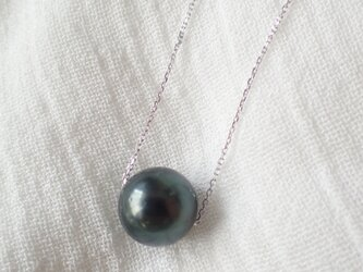 SILVER925 tahitian pearl necklace 1の画像