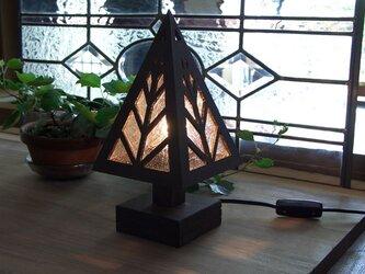 木とガラスの卓上ランプ★TL-GLの画像