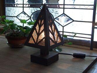 木とガラスの卓上ランプ★TL-WDの画像