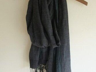 手紡ぎ 手織り ストール 9の画像