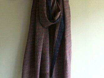 手紡ぎ 手織り ストール 10の画像