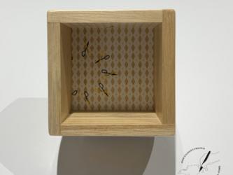桐の酒枡 博多鋏の画像