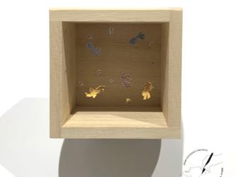 桐の箔押し酒枡 金魚の画像