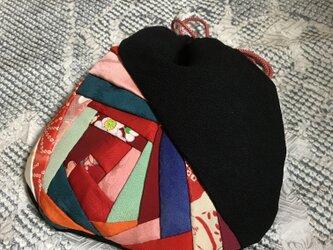 ヴィンテージ着物の巾着の画像