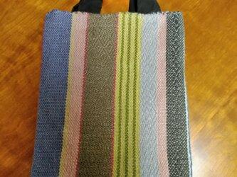 手織りジュートのサブバッグの画像