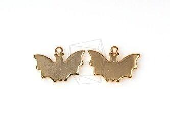 PDT-294-G【2個入り】フラットコウモリシャドウペンダント,Flat bat Shadow Pendantの画像