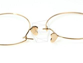 ERG-043-G【4個入り】ハートピアスフック,Stone Setting Hoop Ear Wire/30mmの画像