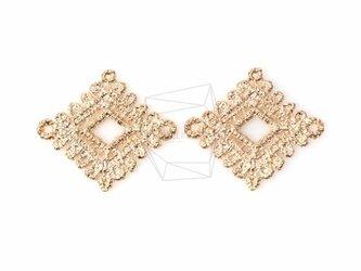 CNT-066-MG【4個入り】ダイヤモンドレースのペンダント,Diamond Shaped Lace Pendantの画像
