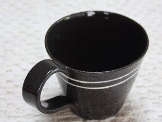 白線2本のシンプルカップの画像