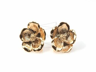 ERG-048-MG【4個入り】5枚花びらピアスポスト,five Petal Flower Ear Postの画像