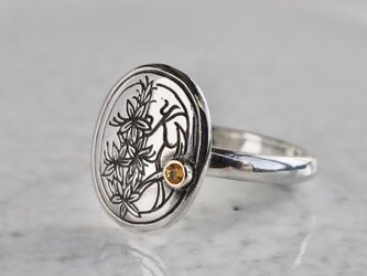 Silver initial ring [R059SV]の画像