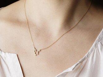 Stardust  9 stones necklace [P056K10YG]の画像