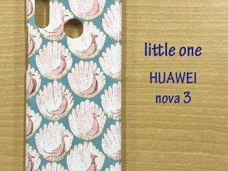 【リバティ生地】ピーコック・オブ・グランサム・ホール水色HUAWEI nova3の画像
