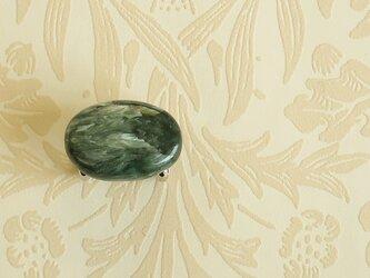 天然石の帯留 ◎ セラフィナイト/A【送料無料】の画像
