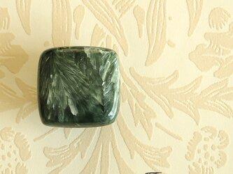 天然石の帯留 ◎ セラフィナイト/B【送料無料】の画像