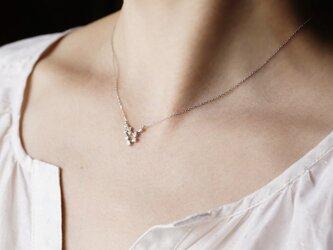 Stardust 9 stones white gold necklace [P056K10WG]の画像