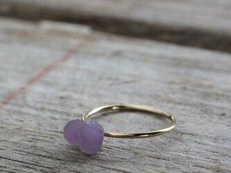 Purple Chalcedony Ring パープルカルセドニー原石リング 14KGFの画像