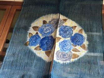 青い薔薇のタペストリー&暖簾の画像