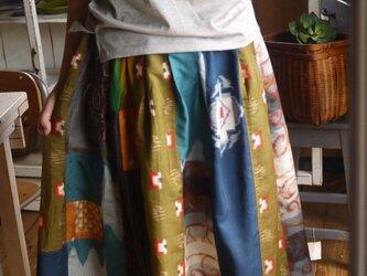 銘仙など正絹からリメイクパッチスカートの画像