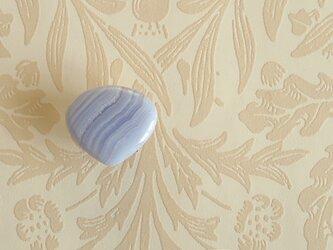 天然石の帯留 ◎ ブルーレースアゲート/A【送料無料】の画像