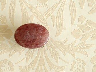 天然石の帯留 ◎ モスコバイト/A【送料無料】の画像
