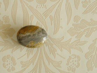 天然石の帯留 ◎ バンブルビージャスパー/A【送料無料】の画像