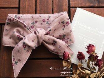 保冷剤 ピンク 薔薇 ダブルガーゼ 綿100% 節約 快適 エコ スカーフ ネッククーラーの画像