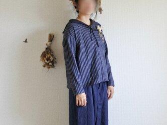 marina*blouse ネイビーの画像