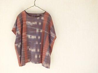 絣織りの四角衣ブラウスの画像